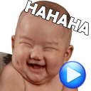 WAstickerApps Babys Lustige Gesichter mit Phrasen