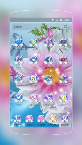 Crystal Flower  Theme for CM Launcher 1 0 0 Download APK for