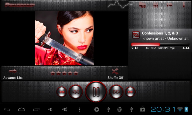 Poweramp skin STEEL OF RED 3 02 Download APK for Android