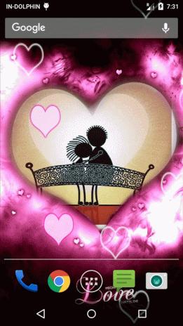 valentine frame live wallpaper screenshot 3