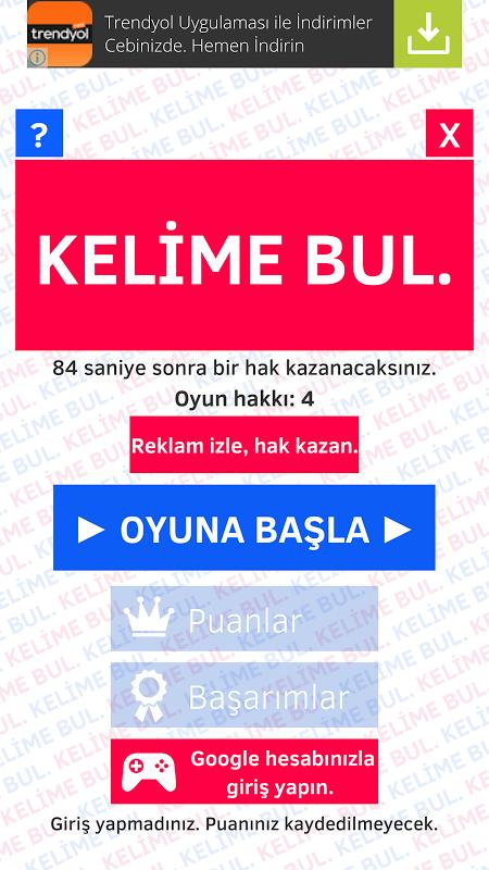 KELİME BUL. screenshot 1