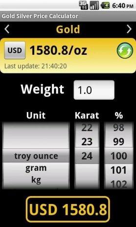 Gold Price Calculator Free Screenshot 1