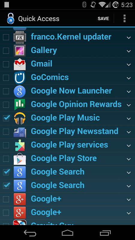 Quick Access screenshot 1