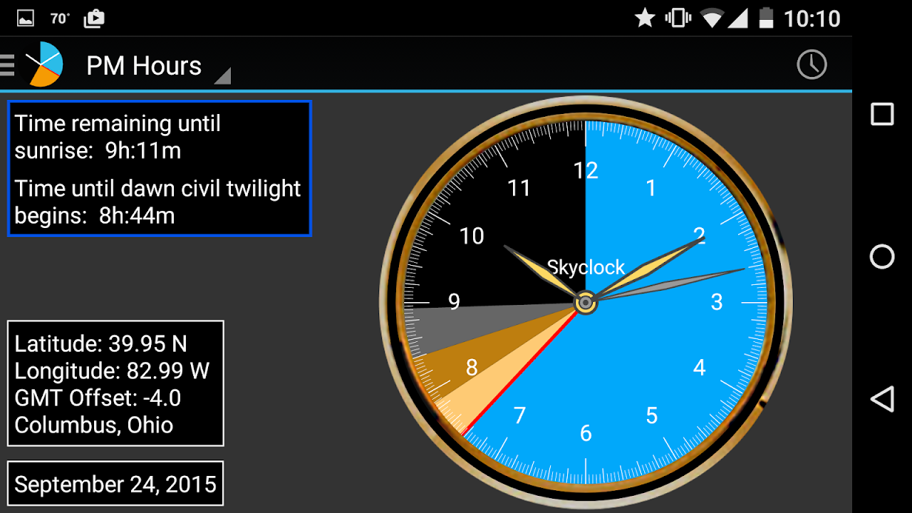 Skyclock screenshot 4