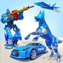 Dog Robot Car Game: Police Robot Transforming Game