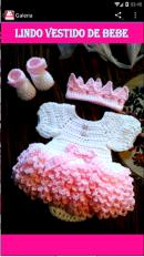vestidos tejidos de bebe screenshot 3