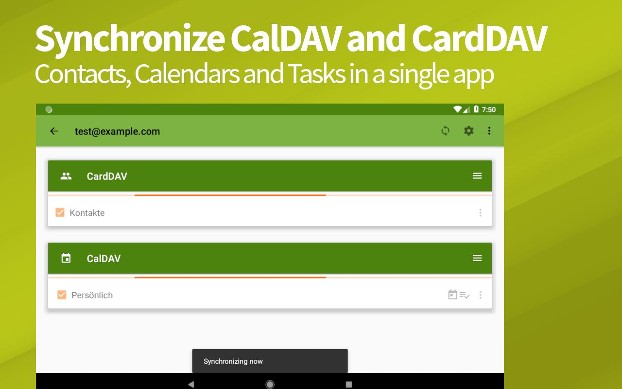 DAVx⁵ – CalDAV/CardDAV Client screenshot 1