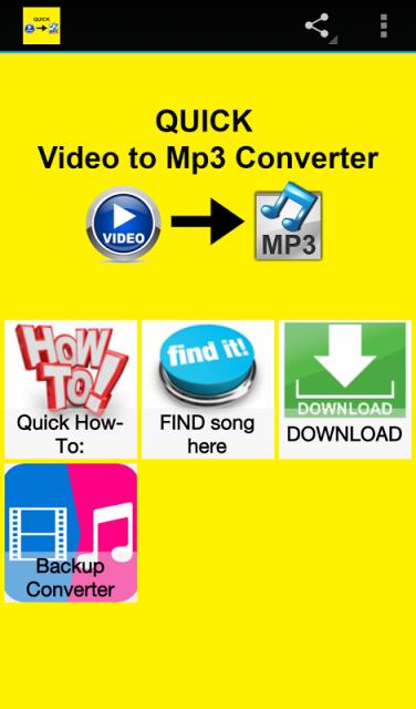 quick video to mp3 converter