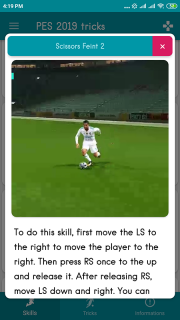 PES 2019 Skills + Tips & Tricks 1 01 Descargar APK para