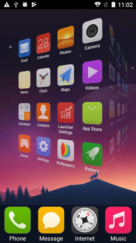 X Phone Launcher screenshot 2