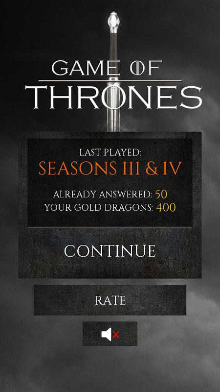 Quiz Game of Thrones screenshot 1