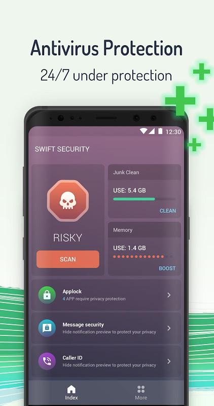 Security Defender - Antivirus Scan, Junk Clean screenshot 1