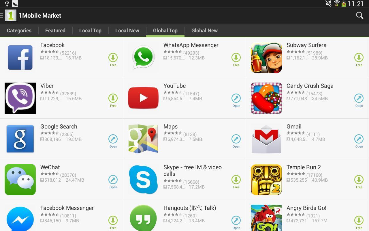 1 mobil market