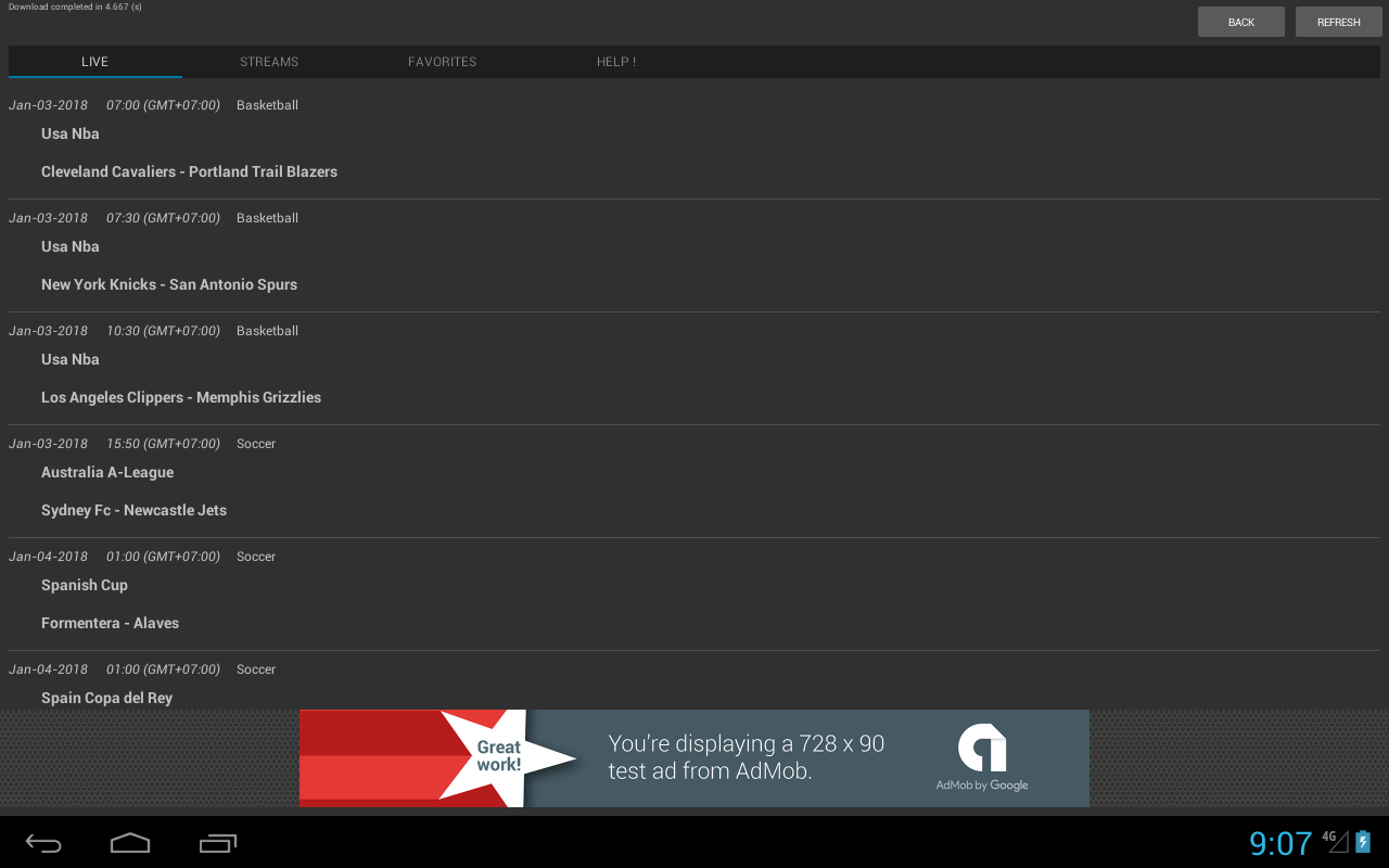 Sport Schedule screenshot 1