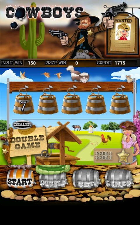 Cowboys Slot Machine HD screenshot 2