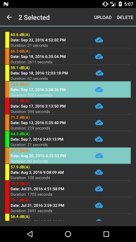NoiseCapture screenshot 3