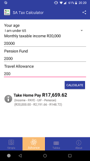 Take Home Pay Calculator 2020.Sa Tax Calculator 2 3 Download Apk For Android Aptoide