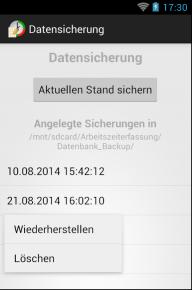 Arbeitszeiterfassung screenshot 7