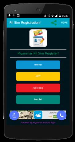 Myanmar All Sim Card Register 2 2 Android အတွက် Aptoide