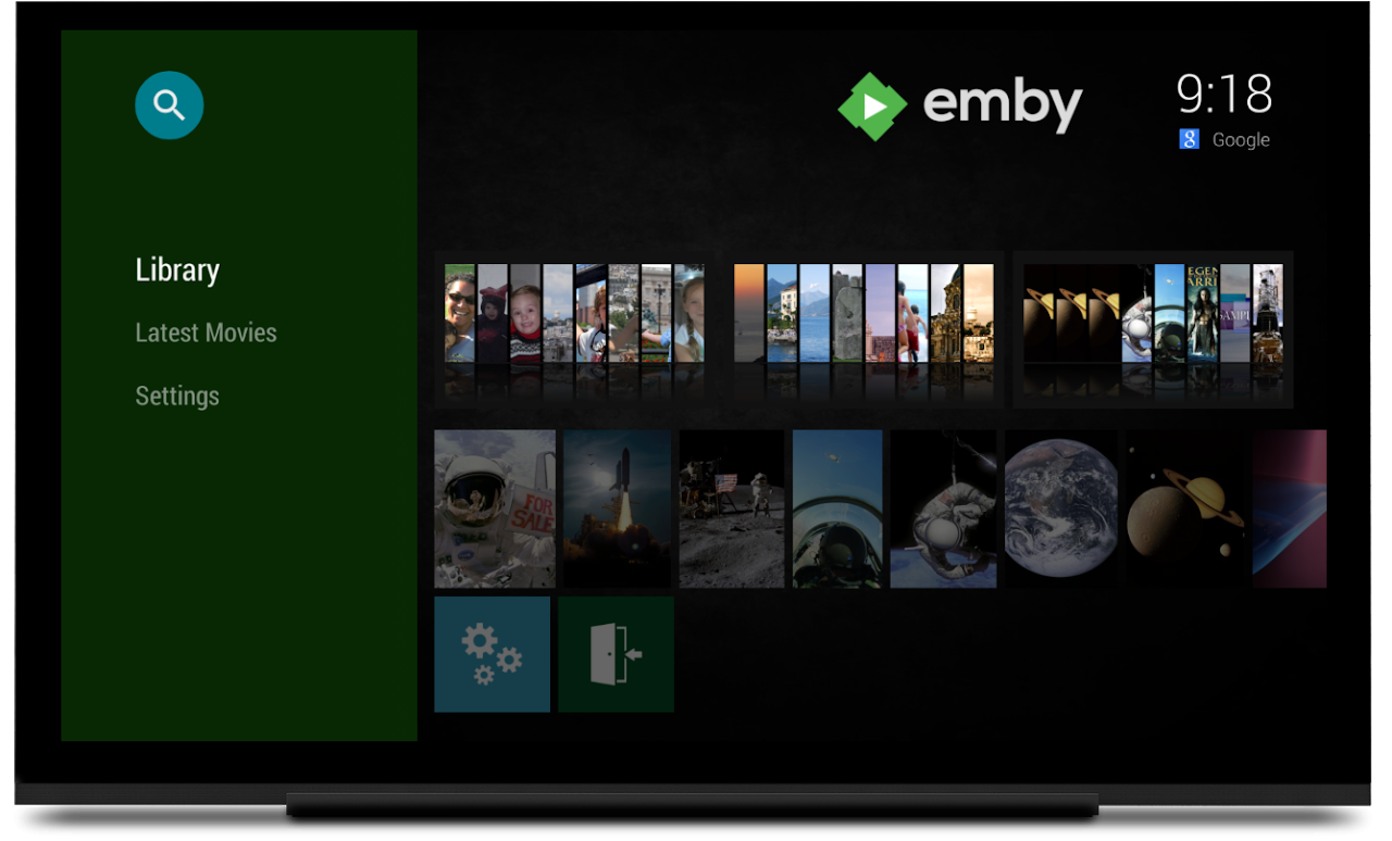 Emby for Android TV screenshot 1