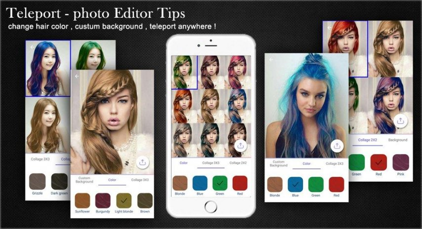 Free Teleport Photo Editor Телепорт Tips Download APK For - Hair colour editor download