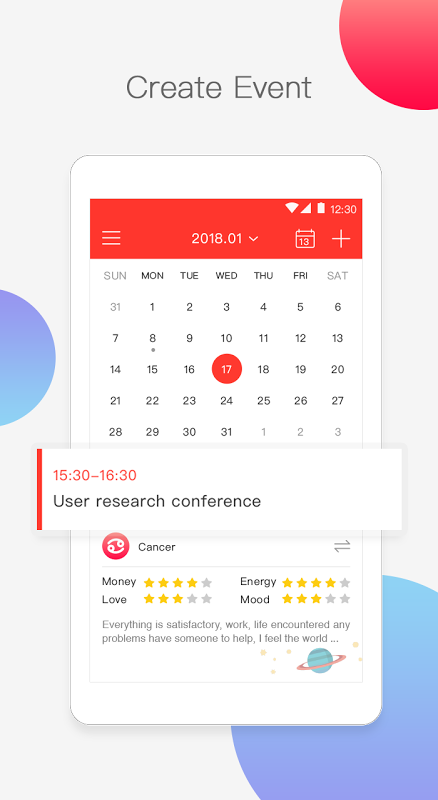 Calendar Lite screenshot 2