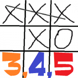 Tic-tac-toe 3-4-5 Icon