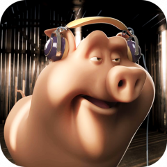 funny pig 3d live wallpaper icon