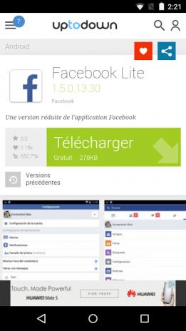 facebook lite apk download uptodown