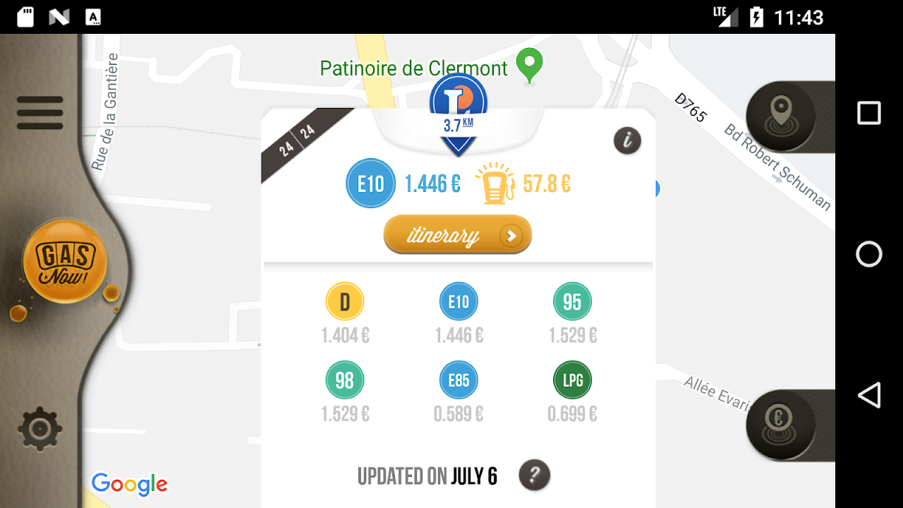 Gas Now - Prices comparator screenshot 2