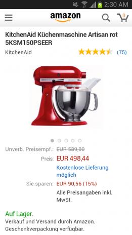 Best Kitchenaid Küchenmaschine Artisan Rot 5ksm150pseer Photos ...