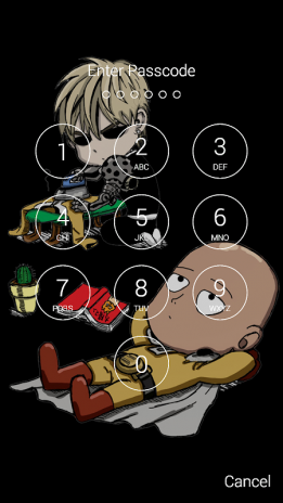 Saitama Fan Anime Lock Screen Wallpaper Screenshot