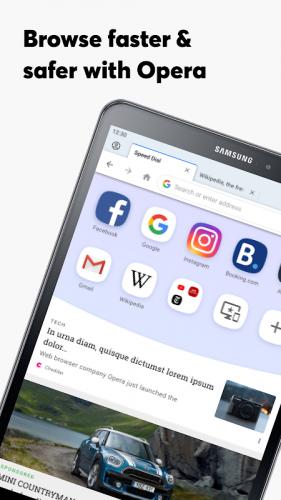 Opera Browser: Fast & Private screenshot 2