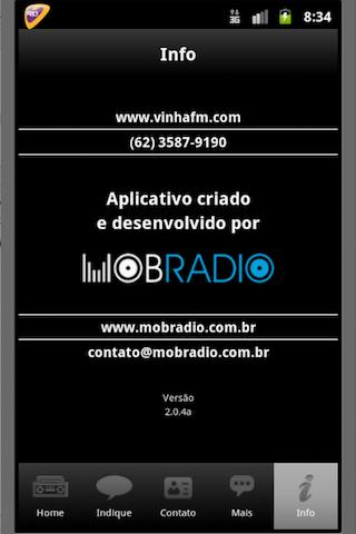 Radio Vinha FM  91,9 Goiânia Screenshot