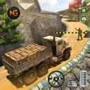 Caminhão de exército dos EUA Offroad dirigindo