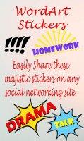 WordArt Stickers Screen