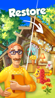 Bloomberry — match-3 design story makeover of home screenshot 4