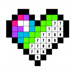 Color By Number Coloring Book Free Pixel Art Icon