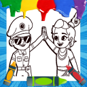 Little Singham Coloring Game Cartoon