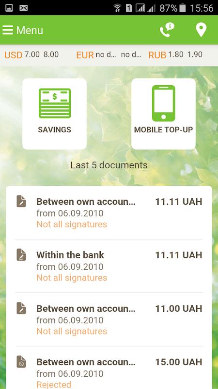 Sberbank Online Ukraine screenshot 2