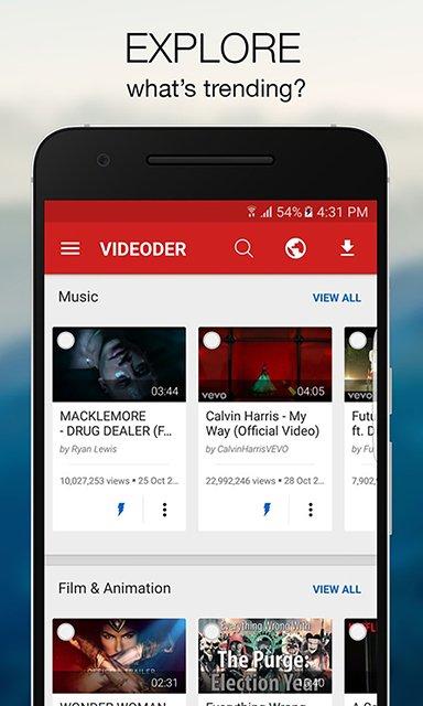 videoder gratuit pour iphone