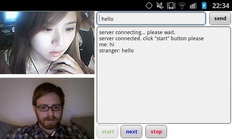 Random video web chat