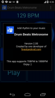 Drum Beats Metronome Screen