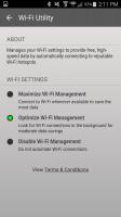 Wi-Fi Utility Screen