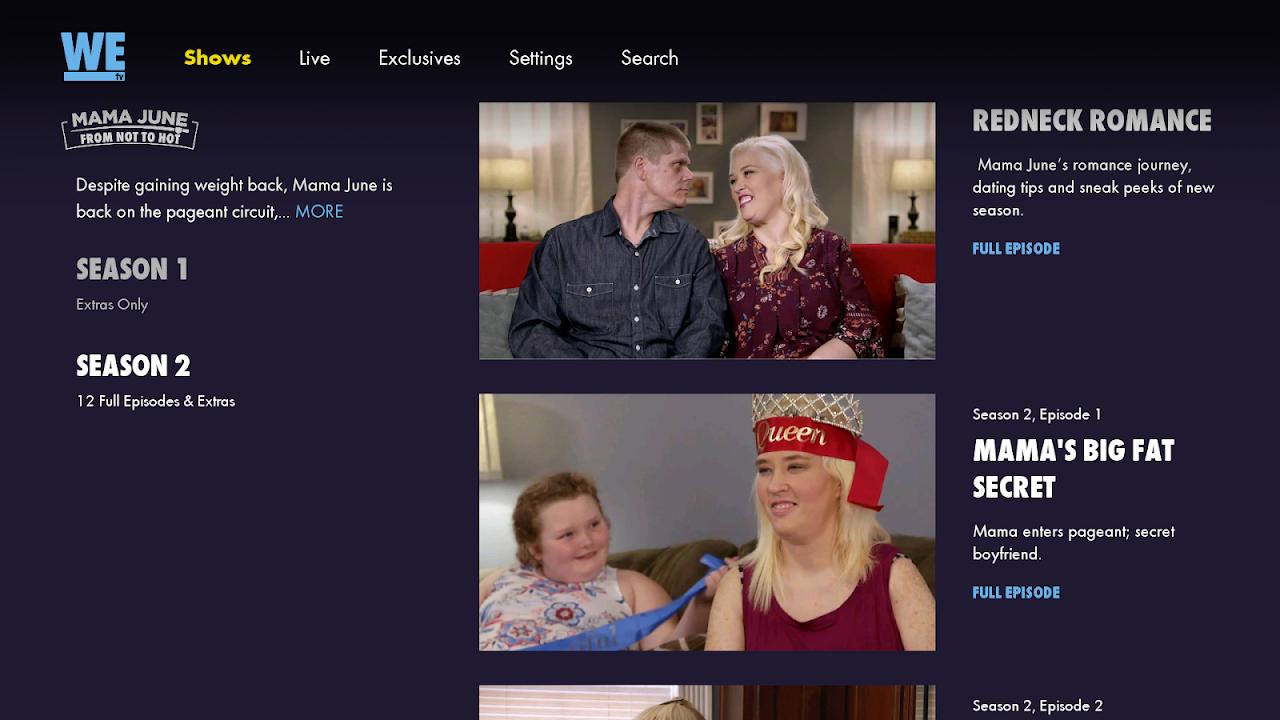 WE tv screenshot 2