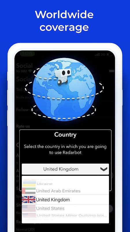 Radarbot Free: Speed Camera Detector & Speedometer screenshot 1