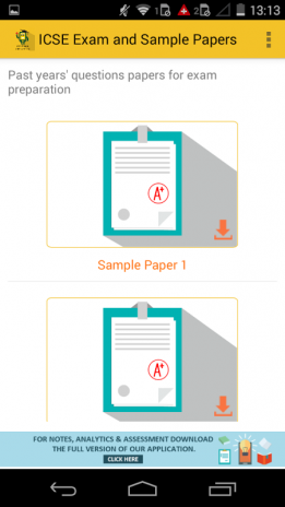 ICSE Sample Papers for exam 1 0 3 Download APK for Android