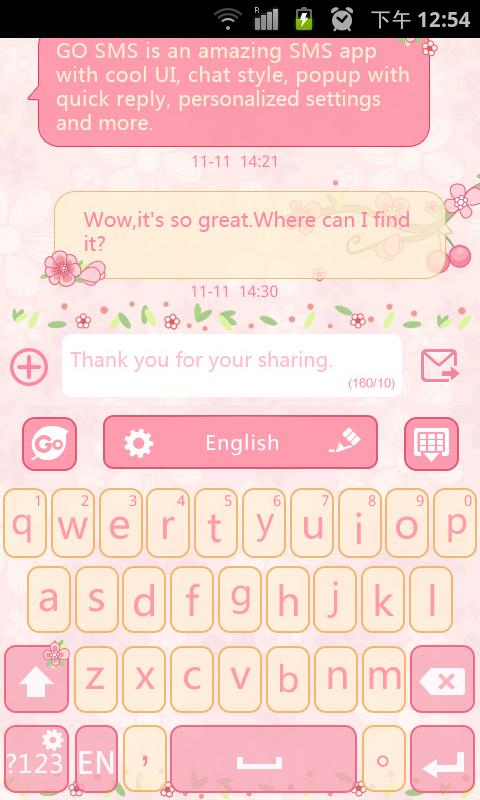 Lovepetal Go Keyboard Theme 1 65 20 60 Download Android Apk Aptoide