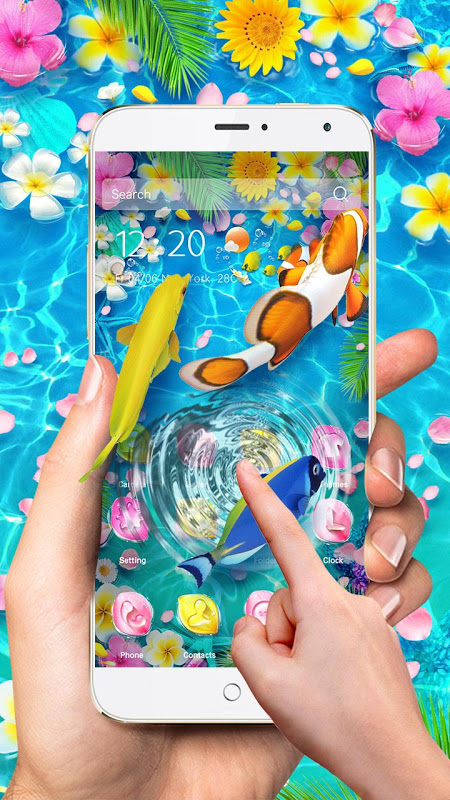 Lively 3D Color Fish Theme screenshot 1