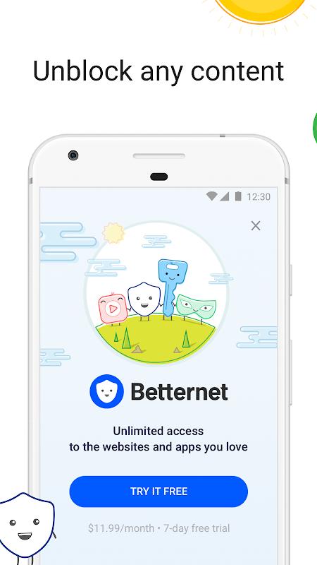 VPN Free - Betternet Hotspot VPN & Private Browser screenshot 1